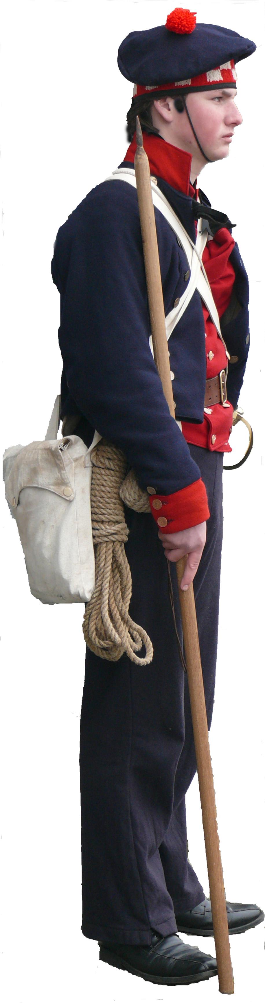 Matroos in 'monteering' - 1797-1805 - Bataafse Republiek - Bataafs Gemenebest (Marine Nederland - Navy Netherlands - Marine Hollandais - Batavian Republic - Republique Batave  -  Equipage De Delft naval re-enactment