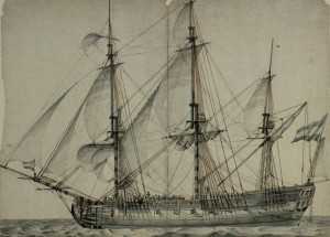 Nederlands Linieschip 54 kanons 1787 - David Kleijne - Netherlands ship of the line - Netherlands Navy - Marine