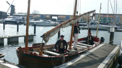 Capiteyns-Chaloupe Hellevoetsluis 1797 Marine sloep Bataafse Republiek Dutch Navy sloop Equipage De Delft 2016 02