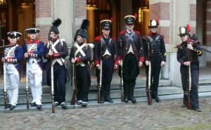 Defile Korps Mariniers 350 jaar 2015 - Nederland - Regiment Fourgeoud 1772-1774 Bataafse Republiek 1797 Koninkrijk Holland 1805-1810 Verenigd Koninkrijk der Nederlanden 1817-1830