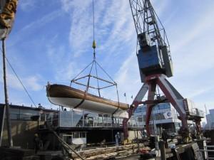 Capiteyns-Chaloupe Kraandrijver havenkraan Museum De Delft Equipage De Delft 2016 03
