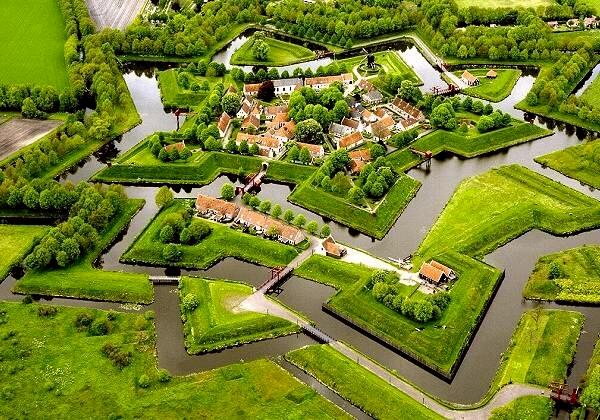 Bourtange-luchtfoto