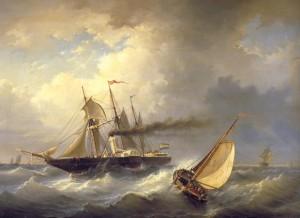 Zr Ms Stoompakket Curacao eerste stoomschip Kon Marine 1825