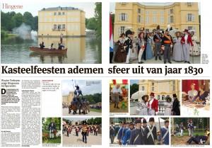 Equipage De Delft was met haar Jol, bemand met 'scheepsvolk' en mariniers, alsmede een wal-detachement present.