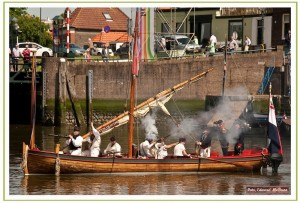 Capiteyns-Chaloupe 1797 Marine sloep Bataafse Republiek Dutch Navy sloop Equipage De Delft re-enactment marinier matroos