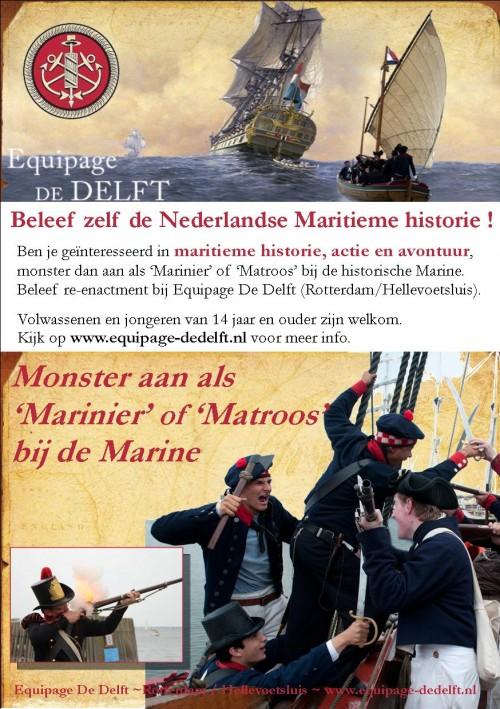 Equipage De Delft 2016 Rotterdam Hellevoetsluis Numansdorp - Marinier Matroos 1797 1810 - Doe mee - Marine - Fort Buitensluis - historische uitbeelding - re-enactment - Wereldhavendagen 2016 - Vlissingen Maritiem - Sail De Ruyter - Koninklijke Marine - Mariniersmuseum - 350 jaar Korps Mariniers - fregat Shtandart - Utrechts Statenjacht - Fort Buitensluis