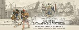 Dag van de Bataafsche Vryheid - zondag 5 maart 2017 - Museum De Delft Rotterdam Delfshaven - Equipage De Delft - levende historie - re=enactment Marine Mariniers Burgers Fransen scheepsbouw 1796
