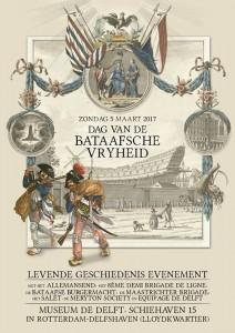 Dag van de Bataafsche Vryheid zondag 5 maart 2017 - Museum De Delft Rotterdam Delfshaven Equipage De Delft