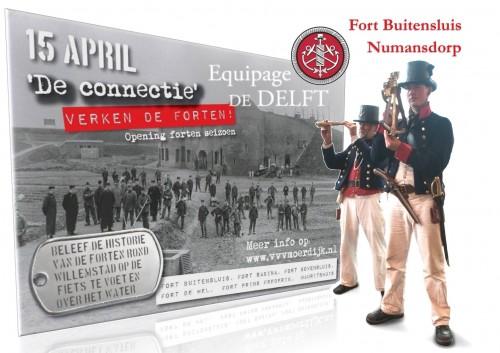 Equipage De Delft bij Fort Buitensluis - Hollands Diep - Numansdorp - Zuiderwaterlinie