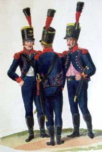 'Hollandsche Mariniers', 1806 te Hamburg (getekend door C. Suhr)