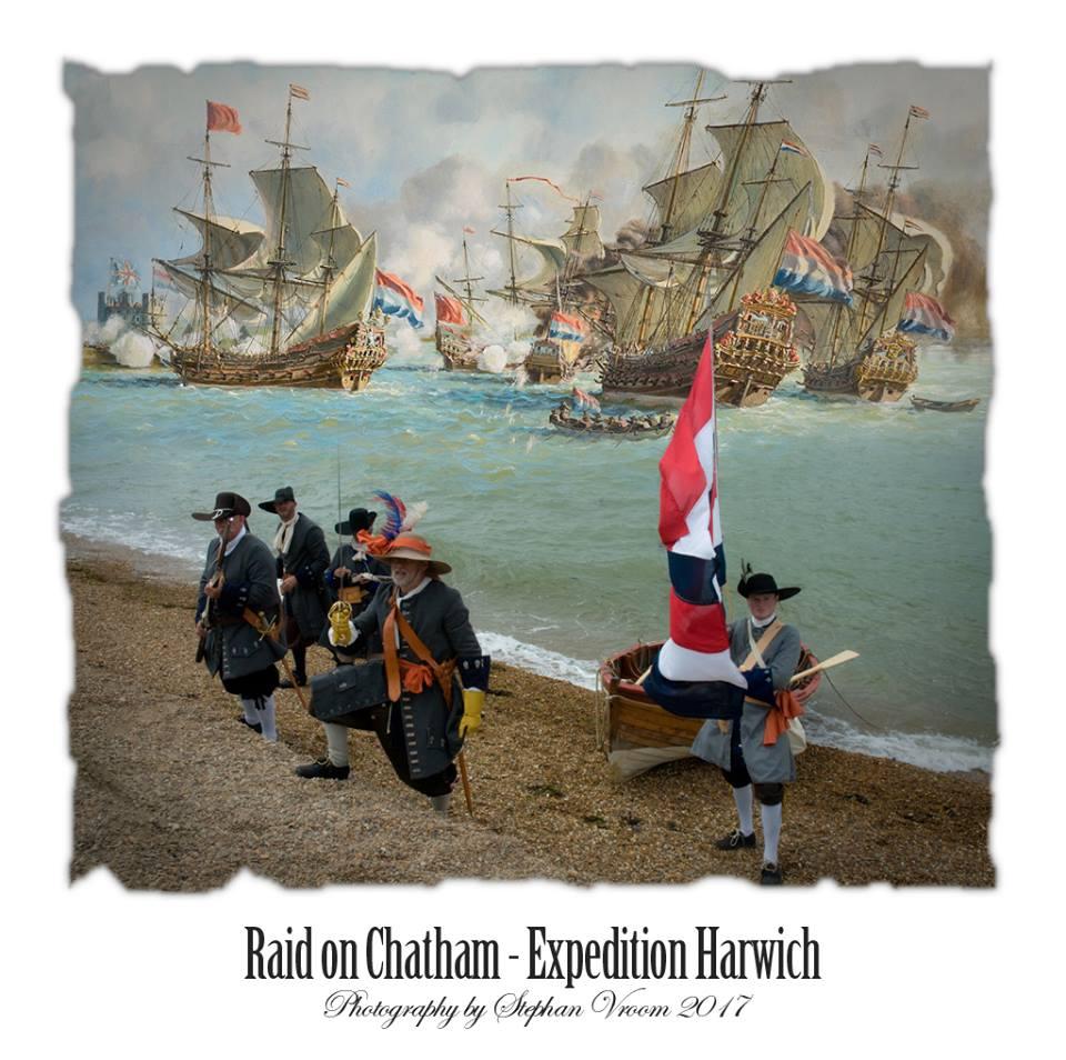 Nederlandse Mariniers 1667 - landing Felixstowe Attack Fort Landguard - Dutch Marines - Tocht naar Chatham - Equipage De Delft - Re-enactment Marine