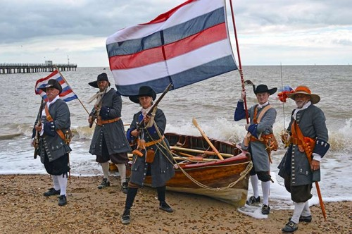 Nederlandse Mariniers 1667 - landing Felixstowe Attack Fort Landguard - Dutch Marines - Tocht naar Chatham - Equipage De Delft - Re-enactment Marine Dutch Navy 7