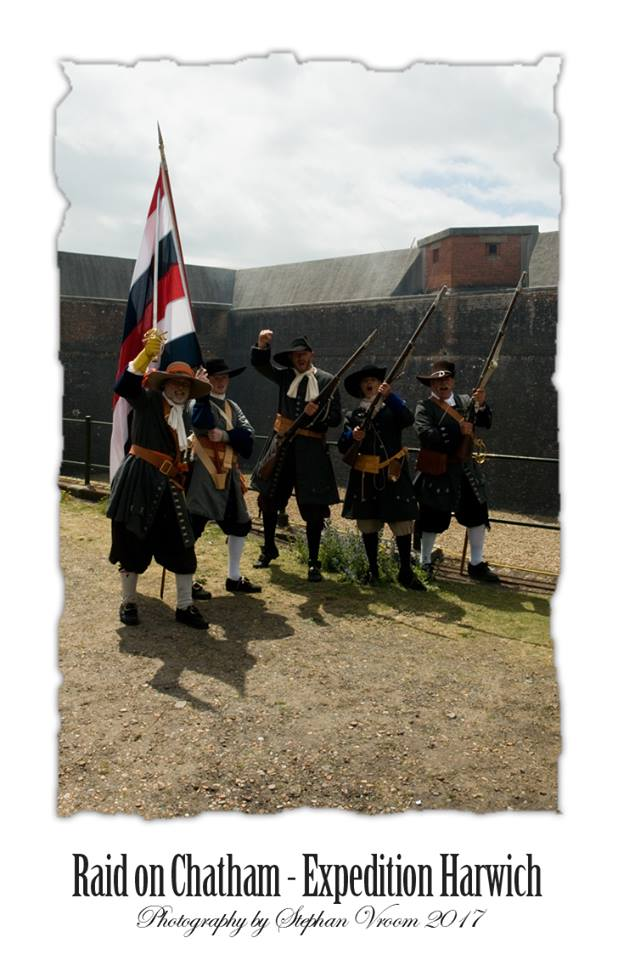 Nederlandse Mariniers 1667 - landing Felixstowe Attack Fort Landguard - Dutch Marines - Tocht naar Chatham - Equipage De Delft - Re-enactment Marine a