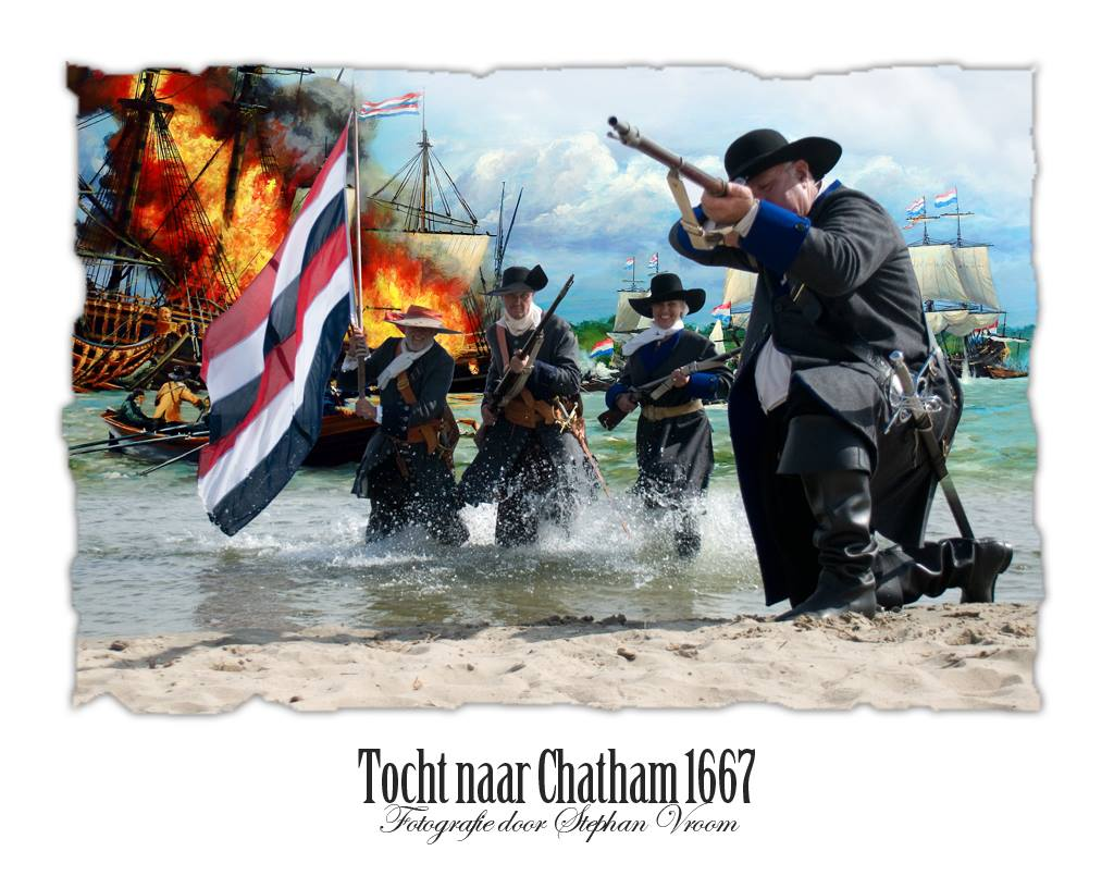 Tocht naar Chatham 1667 - Raid on the Medway - Korps Mariniers - Dutch Marines - Equipage De Delft re-enactment - Marine - Dutch Navy - landing Mariniers