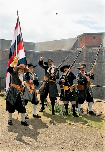 mariniers-1667-regiment-de-marine-michiel-de-ruyter-tocht-naar-chatham-equipage-de-delft-1