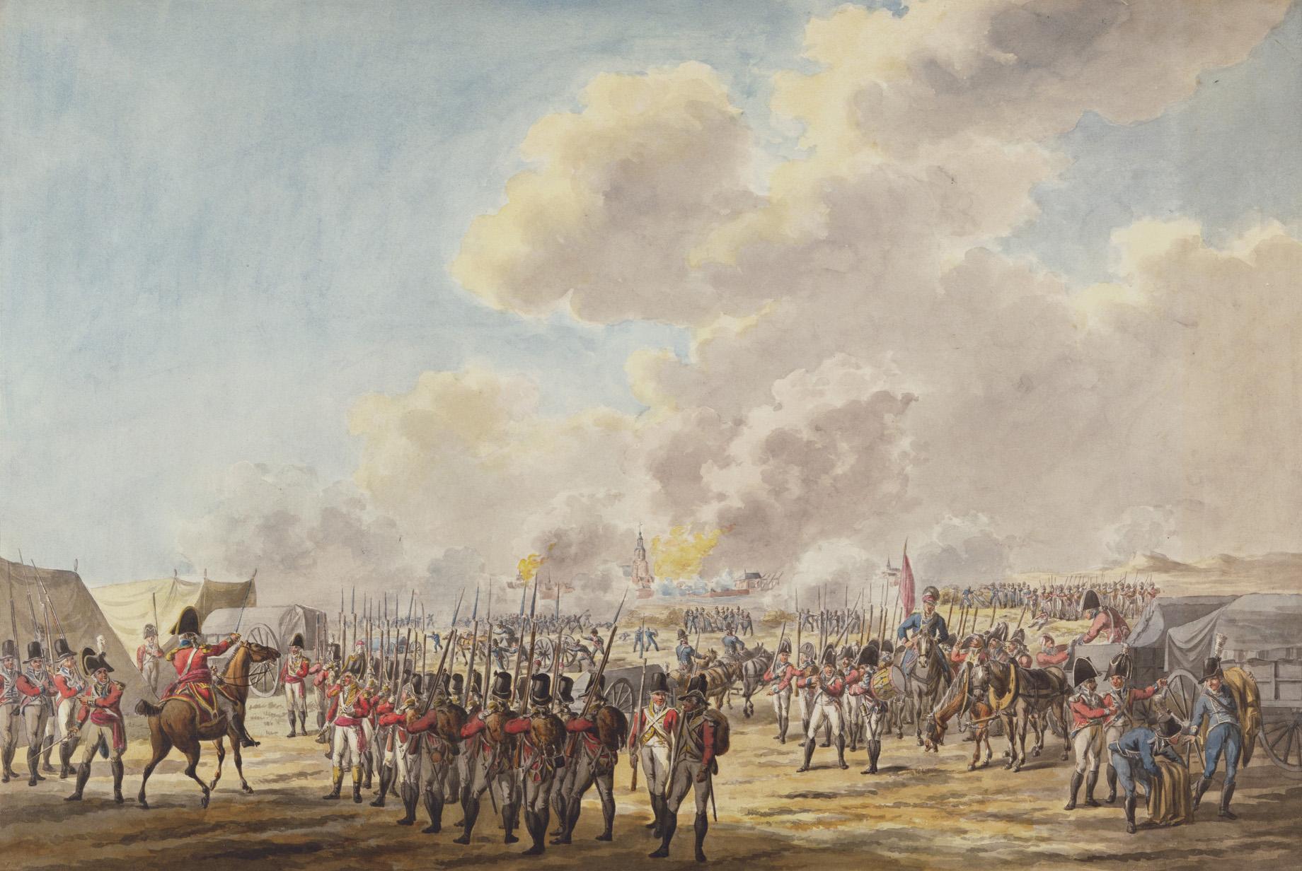 Beleg van Vlissingen door Jan Anthonie Langendijk (1780-1818) - Engelse Expeditie Walcheren Campaign Veere 1809