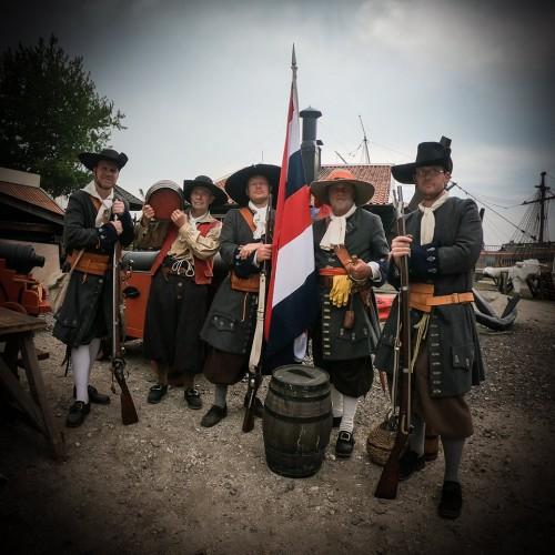 Mariniers 1667 - Michiel de Ruyter - Equipage De Delft - Bataviawerf - Batavialand Lelystad - Dutch Marines - Tocht naar Chatham 1