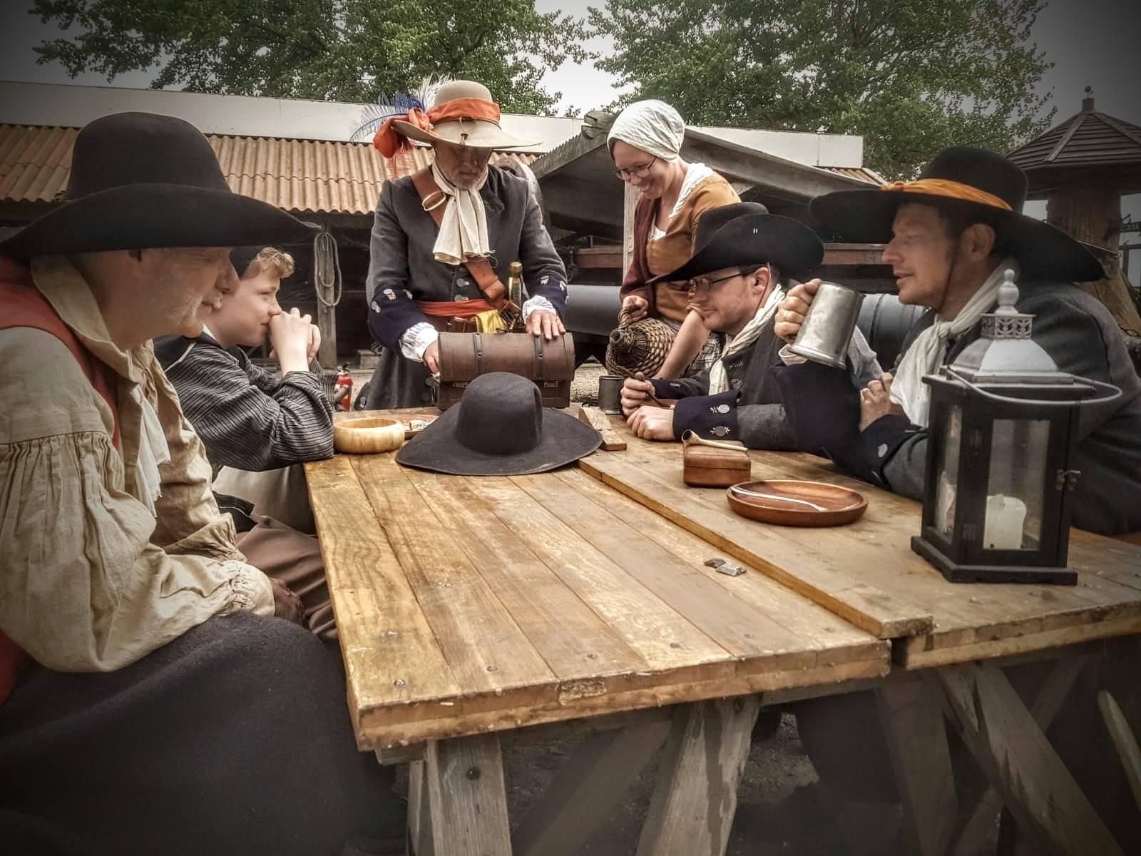 Mariniers 1667 - Michiel de Ruyter - Equipage De Delft - Bataviawerf - Batavialand Lelystad - Dutch Marines - Tocht naar Chatham - Zeesoldaten 4