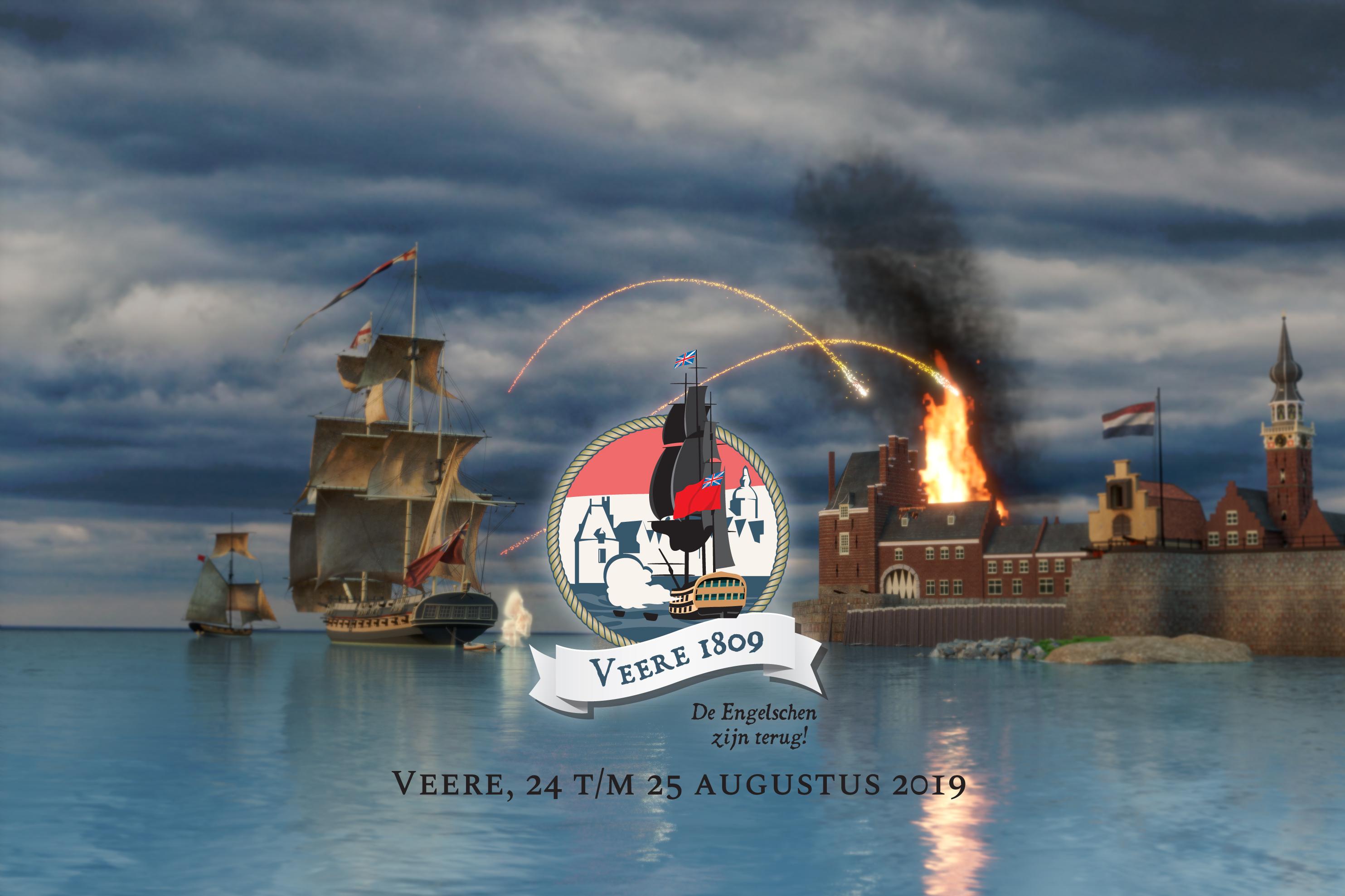 Veere1809 - Engelse Expeditie Walcheren Campaign - Koninklijke Marine - British Navy - Napoleon - Equipage De Delft - Veerse Meer - Campveerse Toren - Holland -