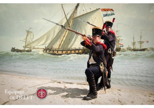 Marinier 1806-1810 - Equipage De Delft - Koninkrijk Holland - Dutch Marines - Korps Mariniers - re-enactment (ml) door Stephan Vroom - Arnold de Lange
