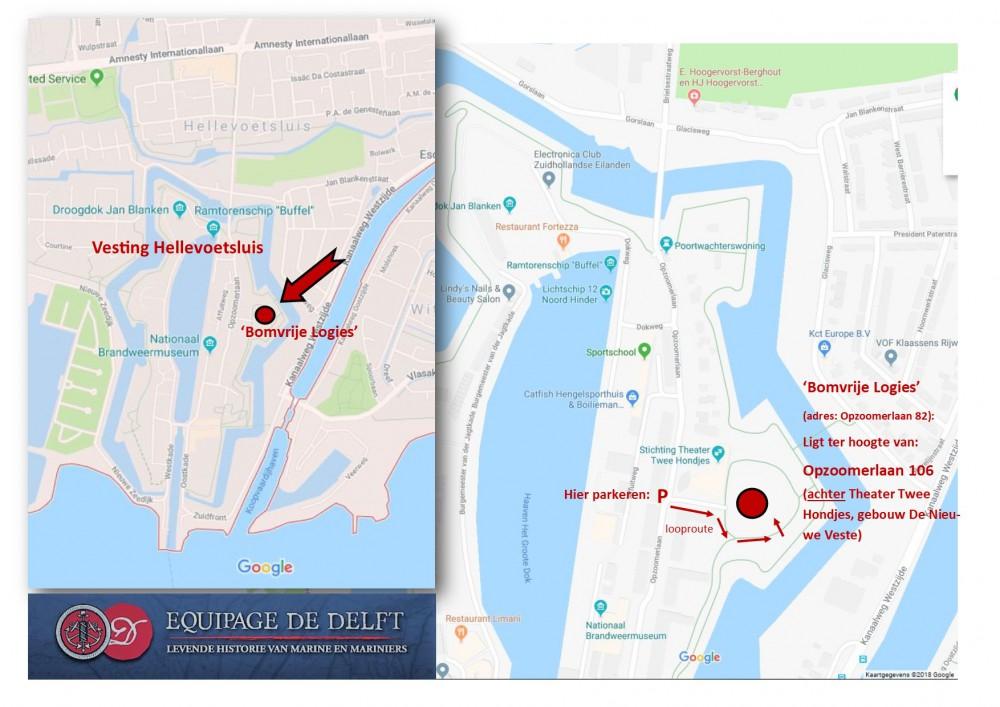 Equipage De Delft Routebeschrijving Hellevoetsluis Bomvrije Logies