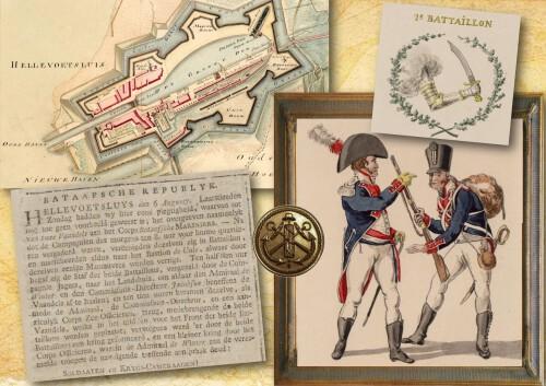 Corps Mariniers 1801 Hellevoetsluis - Marine Bataafse Republiek - Equipage De Delft - levende historie