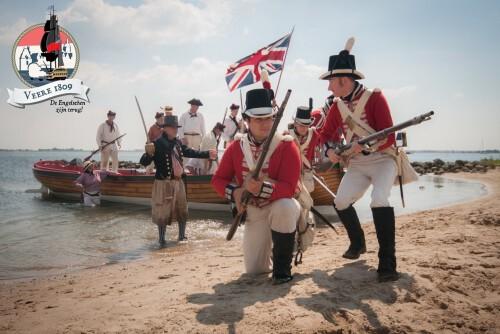 Veere 1809 - Britse expeditie Walcheren 1809 - maritiem spektakel 24-25 augustus 2019 - Equipage De Delft - foto door Stephan Vroom