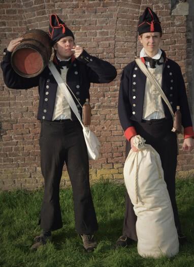 Equipage De Delft Hellevoetsluis - Mariniers 1797 - Zeeslag bij Kamperduin - Marine - Korps Mariniers