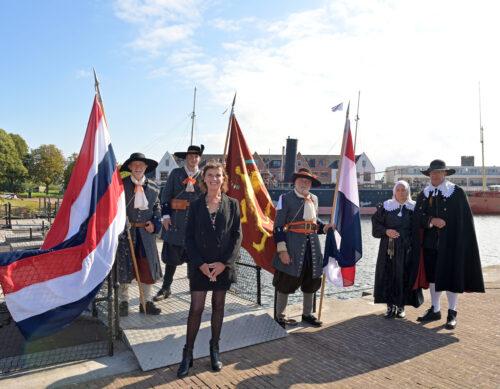 Provincie Zuid-Holland Erfgoedlijn Historisch Haringvliet - Equipage De Delft Hellevoetsluis - Mariniers 1667 Michiel de Ruyter
